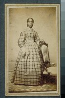 African-American woman in a plaid dress, Middletown
