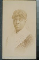 African American woman with a lace shawl, Hartford