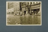 Flood of 1936: Hotel Bond and Boardmans building, Asylum Street, Hartford