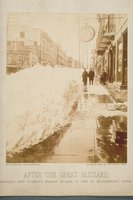 After the great blizzard, Bank Street, Waterbury, March 12-13, 1888