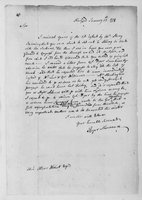 Oliver Wolcott, Sr. Papers: Letters to Oliver Wolcott; transcription of letter from Wolcott to Governor Trumbull, 1778