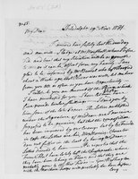 Oliver Wolcott, Sr. Papers: Letters from Oliver Wolcott to his wife, Laura, and his children, 1781-1782