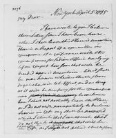 Oliver Wolcott, Sr. Papers: Letters from Oliver Wolcott to his wife, Laura, while in New York and New Haven, 1785