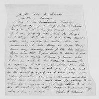 Williams Family Papers: Correspondence among  Elizabeth, Mary, Sophia, and Thomas Williams, 1842