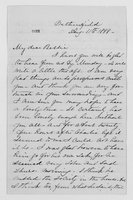 Williams Family Papers:    Correspondence from Elizabeth Williams Andrews to Elizabeth Parkhill Andrews, 1888
