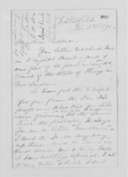 Williams Family Papers: Correspondence among Elizabeth Williams, Elizabeth Parkhill and William Watson Andrews, 1890-1903
