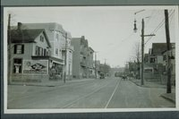Advertising signs, Chapel Street, corner of Poplar Street, Fair Haven