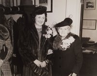 Alice Mortensen with her mother in law Karen P. Mortensen in mayors office, Hartford