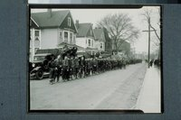 Flood of 1936:  National Guard and trucks, Hartford