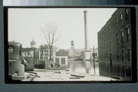 Flood of 1936: flood damage near Colt's Patent Fire Arms Manufacturing Company, Hartford