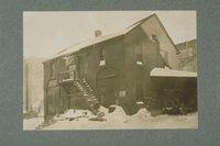 Allyn barn in winter, Asylum Street, Hartford