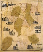 Map of the town of Plymouth, Litchfield County, Connecticut surveyed and drawn by E.M. Woodford, lith. of Friend & Aub