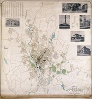 Map of the city of Waterbury, New Haven County, state of Connecticut from actual surveys by A.J. Patton