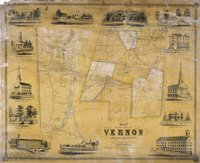 Map of the town of Vernon, Tolland County, Conn. from actual surveys by E.M. Woodford