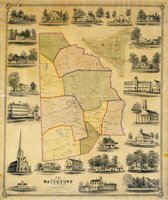 Map of the town of Watertown, Litchfield County, Conn. from actual surveys by E.M. Woodford