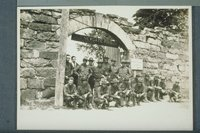 Cavalrymen in front of Newgate Prison, East Granby