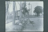 Utility pole work near the American Sumatra Tobacco Co., Windsor vicinity