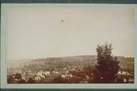 Balloon over Winsted, view no. 2, 1885