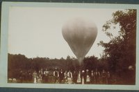 Balloon landing, view no. 12, Windsor or Bloomfield, 1885
