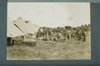 Ambulance corps on arrival at Connecticut National Guard camp, Niantic, July 1913