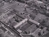 Aerial view of Connecticut State Prison, Wethersfield