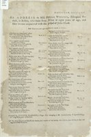 Address to Miss Phillis Wheatly, Ethiopian poetess, in Boston, who came from Africa at eight years of age, and soon became acquainted with the gospel of Jesus Christ ... composed by Jupiter Hammon, a Negro man belonging to Mr. Joseph Lloyd, of Queen's Vil