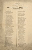 Address of the carrier of the Connecticut courant to his patrons, January 1, 1836.Two hundred years! -- Two hundred years!