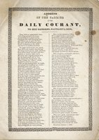 Address of the carrier of the Daily Courant to his patrons, January 1, 1838.Time, with an undiminish'd force ...<br>