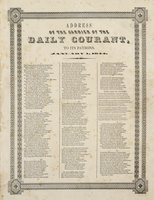 Address of the carrier of the Daily courant to its patrons, January 1, 1844