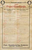 Announcement, 1907 Pope = Hartfords
