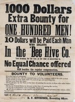 1000 Dollars extra bounty for one hundred men!