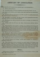 Articles of association : the subscribers ... agree to the following articles ... will hold their first meeting at the house of Oran Chapman, on Thursday, 20th March, 1823 ... East-Haddam, 10th February, 1823