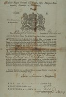 Anno Regni Georgii III Regis, nunc Magnae Britanniae, Franciae et Hiberniae. Tertio. G.III. R. Colony of Connecticut, in New-England. To Mr. Joseph Hickox, constable of Durham ... dated at Hartford, the 20th day of June ... 1774 ..