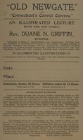 Old Newgate, or, Connecticut's convict caverns : an illustrated lecture ... by Rev. Duane N. Griffin ..