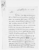 Oliver Wolcott Jr. Papers: Letters and documents from Oliver Wolcott Sr., 1796 January-June