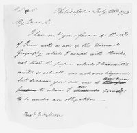 Oliver Wolcott, Jr. Papers: Incoming and outgoing correspondence, 1793-1808