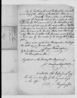 American Revolution Collection: Comptrollers: Disability certificates, 1783-1789