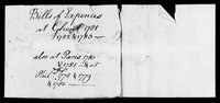 Silas Deane Papers: Accounts: Labels on packages of documents when received, ca. 1790