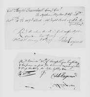 Bills and receipts for military supplies, 1776