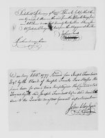 Bills and receipts for military supplies, 1777