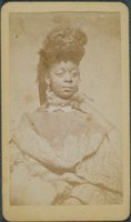 African-American woman in a paisley shawl, Willimantic
