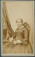 African-American woman in a carved chair, Norwich