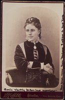 Annie Smith Churchill shortly before her marriage, New Britain