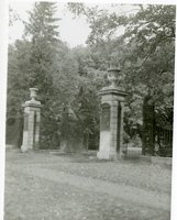 Woodland Street entrance, Keney Park, Hartford, 1936