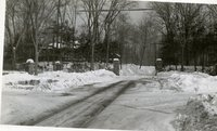 Barbour Street entrance, Keney Park, Hartford, January 1934