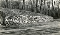 Barber Road (Barbour Street) wall, Keney Park, Hartford, April 1934