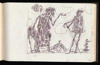 Abraham and Isaac (preliminary drawing)