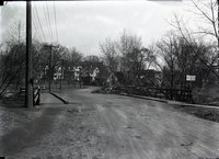 Bridge warning sign, March 28, 1918
