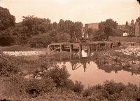 Bridge over stream construction, Hartford (Wellington Street, 1923)