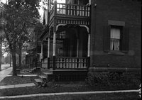 Brick houses with porches, Hartford